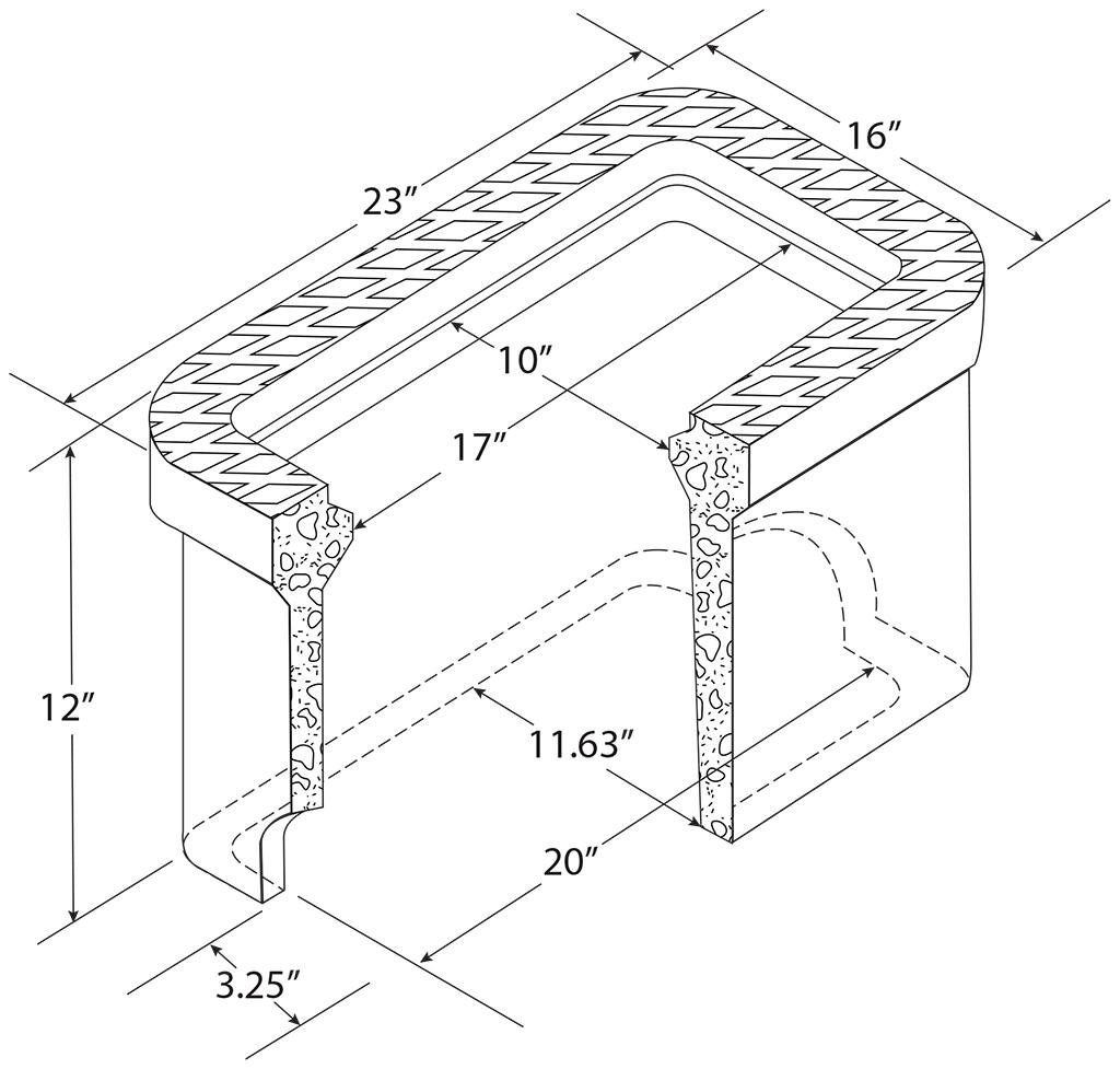 "C.H. 1"" Concrete Meter Boxes"