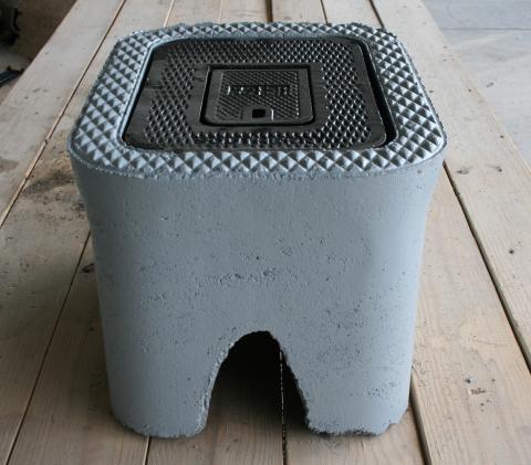 "C.H. 5/8"" X 3/4 Concrete Meter Boxes"